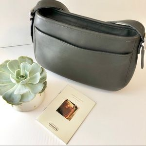 Pristine Coach Gray Glove-Leather Vintage Purse